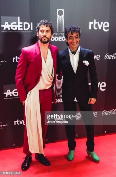 Spanish actor Paco Leon and spanish singer Tomasito attend the 1st Odeon Awards at Teatro Real on January 20 2020 in Madrid Spain