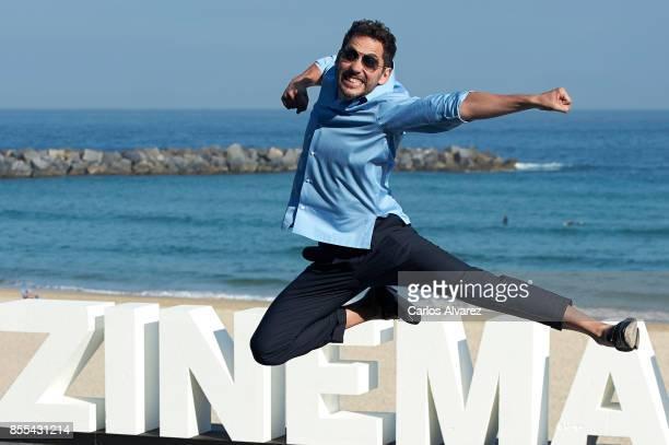 Spanish actor Paco Leon attends 'La Peste' photocall during the 65th San Sebastian International Film Festival on September 29 2017 in San Sebastian...