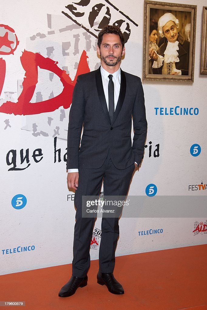 Spanish actor Paco Leon attends the 'Aida' new season red carpet during the day four of 5th FesTVal Television Festival 2013 at the Villa Suso Palace on September 5, 2013 in Vitoria-Gasteiz, Spain.