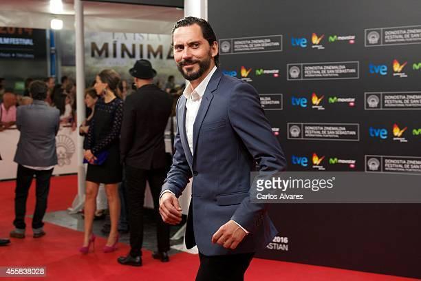 Spanish actor Paco Leon attends the 'La Isla Minima' premiere at the Kursaal Palace during the 62nd San Sebastian International Film Festival on...