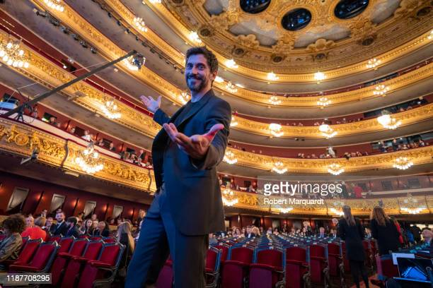 Spanish actor Paco Leon attends the Onda Awards 2019 Gala held at the Teatre Liceu on November 14 2019 in Barcelona Spain