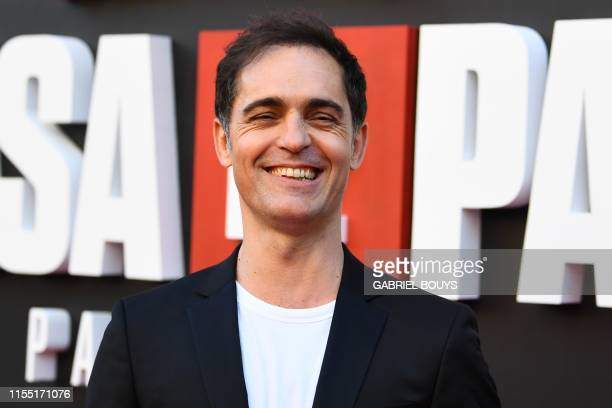 Spanish actor Pedro Alonso poses during a photocall for the presentation of Spanish TV show La Casa de Papel 3rd season on July 11 2019 in Madrid