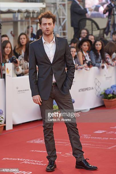 Spanish actor Peter Vives attends the 18th Malaga Film Festival opening ceremony at the Cervantes Theater on April 17 2015 in Malaga Spain