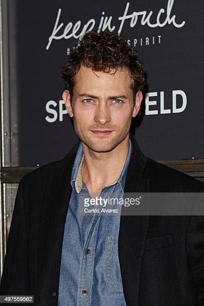 Spanish actor Peter Vives attends the 'Keep in Touch' Fashion Film presentation at the Luchana Theater on November 17 2015 in Madrid Spain