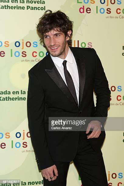 Spanish actor Quim Gutierrez attends the Los Ojos Amarillos de los cocdrilos premiere at the Academia de Cine on April 30 2014 in Madrid Spain
