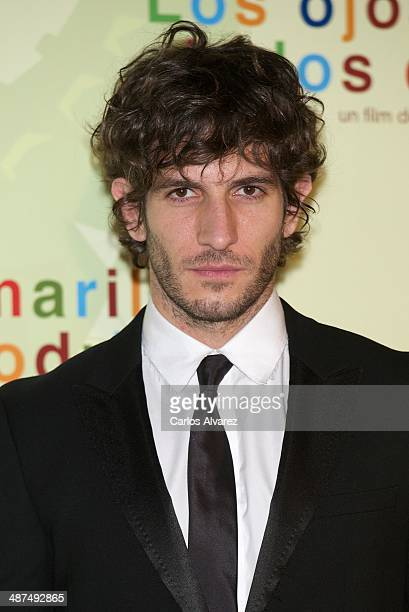 Spanish actor Quim Gutierrez attends the Los Ojos Amarillos de los cocdrilos premiere at the Academia de Cine on April 30 2014 in Madrid Spain