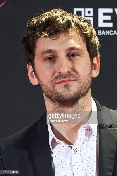 Spanish actor Raul Arevalo attends 'Oro' premiere at the Callao cinema on November 8 2017 in Madrid Spain
