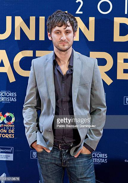 Spanish actor Raul Arevalo attends XX Union de Actores Awards at Circo Price Theatre on October 31 2011 in Madrid Spain