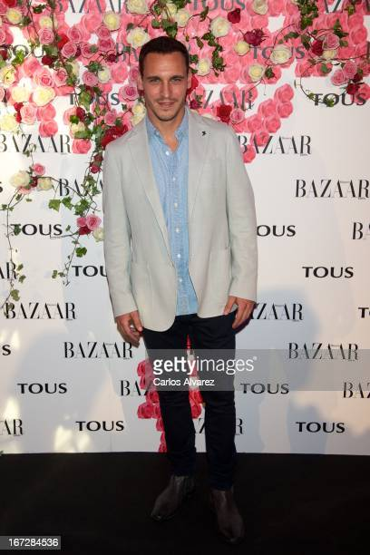 """Spanish actor Ricard Sales attends the presentation of the new fragance """"Rosa"""" at the Ritz Hotel on April 23, 2013 in Madrid, Spain."""
