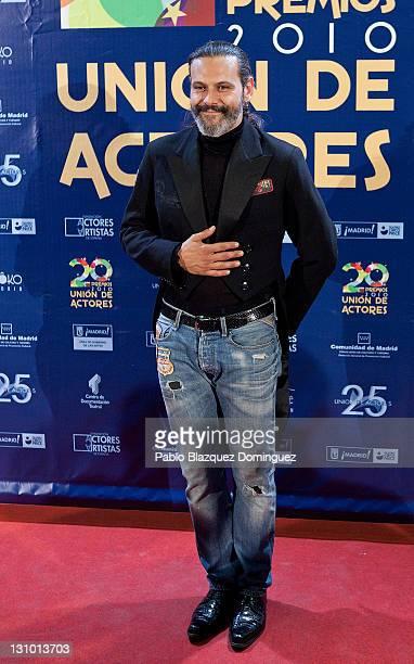 Spanish actor Roberto Enriquez attends XX Union de Actores Awards at Circo Price Theatre on October 31 2011 in Madrid Spain