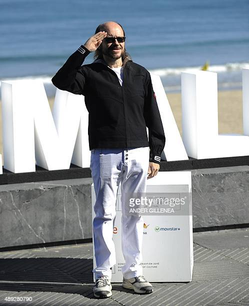 Spanish actor Santiago Segura poses during a photocall after the screening of his film 'Mi gran noche' during the 63rd San Sebastian Film Festival in...