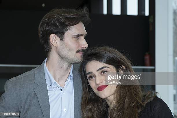 Spanish actor Sergio Mur and actress Olivia Molina present 'Soundrise by Citroen C3' at Citroen store on December 16 2016 in Madrid Spain