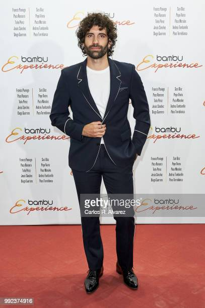 Spanish actor Tamar Novas attends the Bambu 10th anniversary party at Gran Maestre Theater on July 5 2018 in Madrid Spain