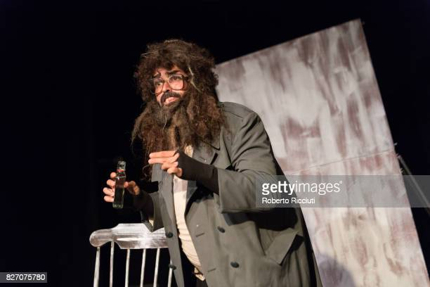 Spanish actor Txema Perez performs 'Losing It' on stage during the annual Edinburgh Festival Fringe at Zoo Venues on August 6 2017 in Edinburgh...