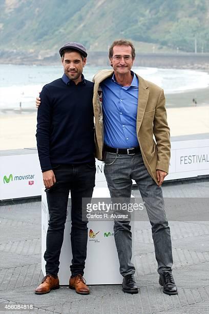 Spanish actor Unax Ugalde and director Pablo Malo attend the 'Lasa y Zabala' photocall at the Kursaal Palace during the 62nd San Sebastian...