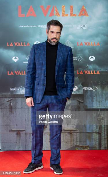 Spanish actor Unax Ugalde attends 'La Valla' photocall at La Paz Cinema on December 11, 2019 in Madrid, Spain.