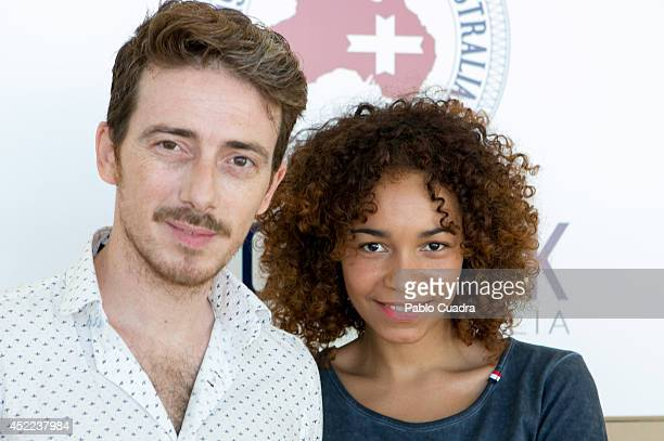 Spanish actor Victor Clavijo and Montse Pla attend MFShow Men on July 16 2014 in Madrid Spain