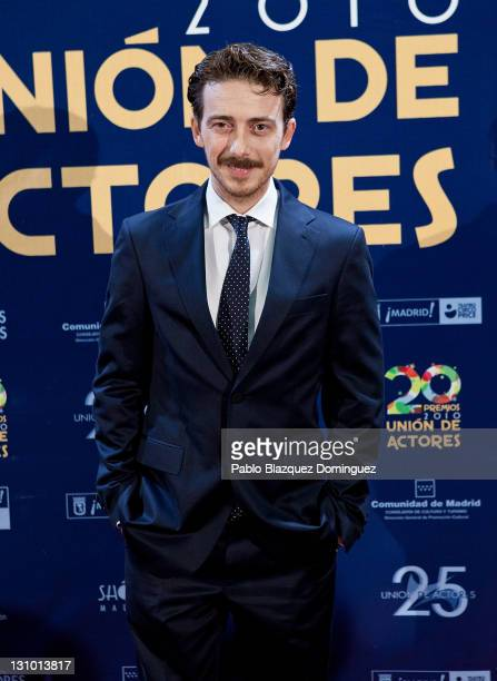 Spanish actor Victor Clavijo attends XX Union de Actores Awards at Circo Price Theatre on October 31 2011 in Madrid Spain