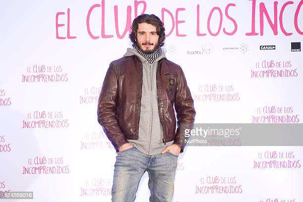 Spanish actor Yon Gonzalez attends 'El Club de los Incomprendidos' photocall at the ME Hotel on December 16 2014 in Madrid Spain Photo Oscar...