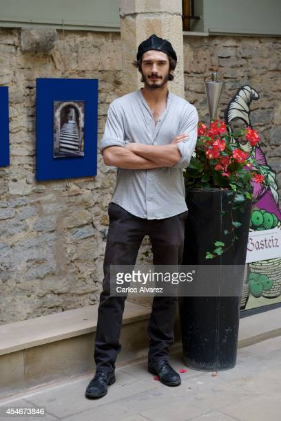 Spanish actor Yon Gonzalez attends the 'Bajo Sospecha' new season photocall at the Villa Suso Palace during day 5 of the 6th FesTVal Television...