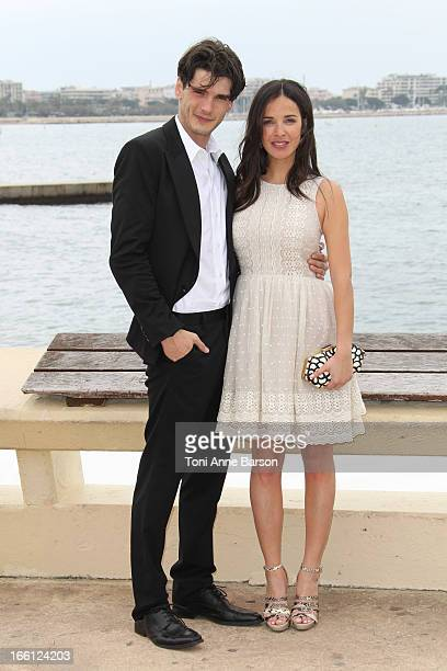Spanish actor Yon Gonzalez Luna and actress Paula Prendes Martinez attend photocall for 'Grand Hotel' at MIP TV 2013 on April 8 2013 in Cannes France