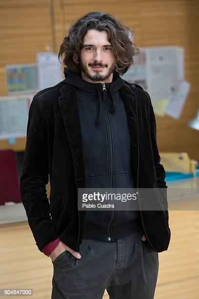 Spanish actor Yon Gonzalez presents 'Bajo Sospecha' second season on January 11 2016 in Madrid Spain