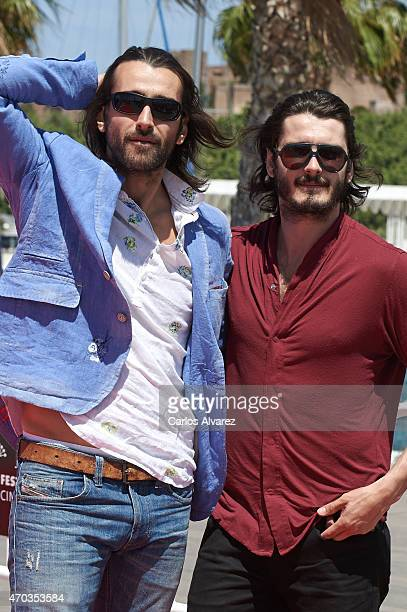Spanish actors Aitor Luna and Yon Gonzalez attend the Matar el Tiempo photocall during the 18th Malaga Film Festival on April 19 2015 in Malaga Spain