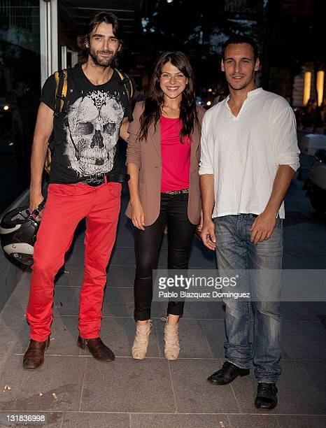 Spanish actors Aitor Luna, Thais Blume and Ricard Sales attend a charity cocktail at Casa Decor in Madrid on May 25, 2011 in Madrid, Spain.