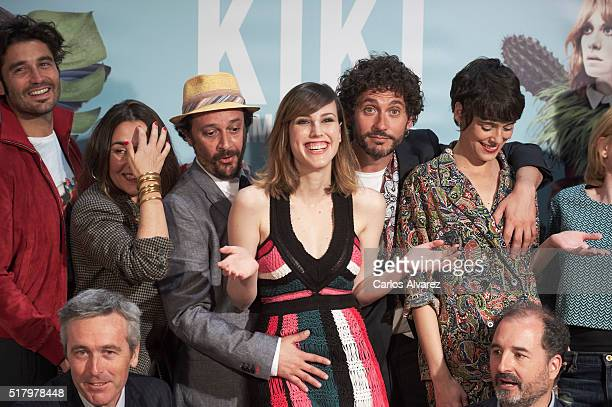 Spanish actors Alex Garcia Candela Pena Luis Callejo Natalia de Molina Paco Leon and Belen Cuesta attend 'Kiki El Amor Se Hace' photocall at the Urso...