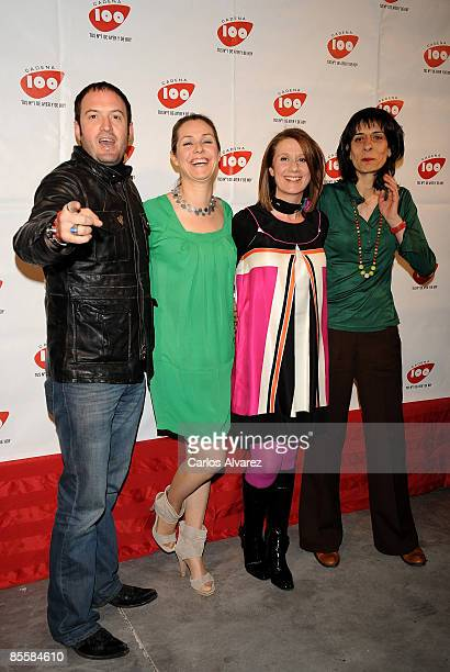 Spanish actors Alex O'Dogherty Silvia Wheeler Esperanza Elipe and Juana Cordero attend the Cadena 100 Pie Derecho Awards at the Quinto Theatre on...