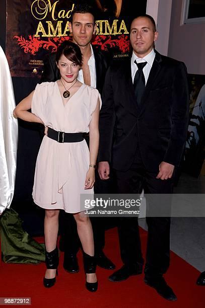 Spanish actors Alicia Moruno Alvaro Climent and Nacho Vazquez attend 'Madre Amadisima' premiere at Paz cinema on May 5 2010 in Madrid Spain