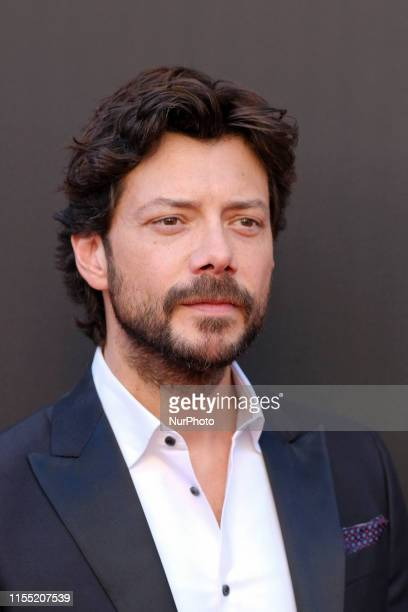 Spanish actors Alvaro Morte attends the red carpet of La Casa de papel 3rd Season by Netflix on July 11 2019 in Madrid Spain