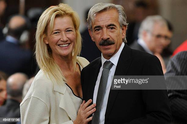 Spanish actors Ana Duato and Imanol Arias attend the 70th Anniversary of United Nations ceremony at the Royal Palace on October 29, 2015 in Madrid,...