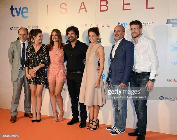 Spanish actors Eusebio Poncela Ursula Corbero Michelle Jenner Rodolfo Sancho Irene Escolar Fernando Guillen Cuervo and Raul Merida attend 'Isabel'...