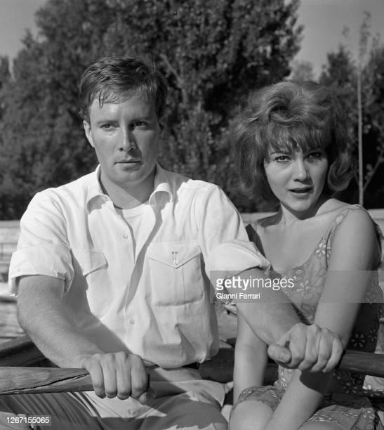 "Spanish actors Gil Vidal and Maria Silva filming ""I promessi sposi"" according to the novel by Alessandro Manzoni, Madrid, Spain, 1964."
