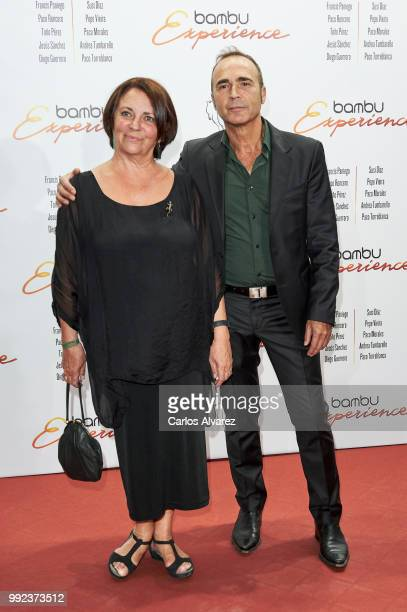 Spanish actors Gloria Munoz and Juan Ribo attend the Bambu 10th anniversary party at Gran Maestre Theater on July 5 2018 in Madrid Spain