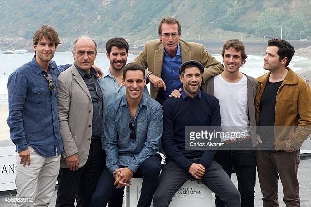 Spanish actors Inigo Gastesi Francesc Orella Oriol Vila Ricard Sales director Pablo Malo actors Unax Ugalde Jon Anza and Cristian Merchan attend the...