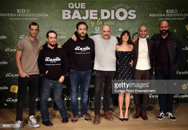 Spanish actors Joel Bosqued Juan Manuel Montilla 'El Langui' director Curro Velazquez actors Karra Elejalde Macarena Garcia Alain Hernandez and...