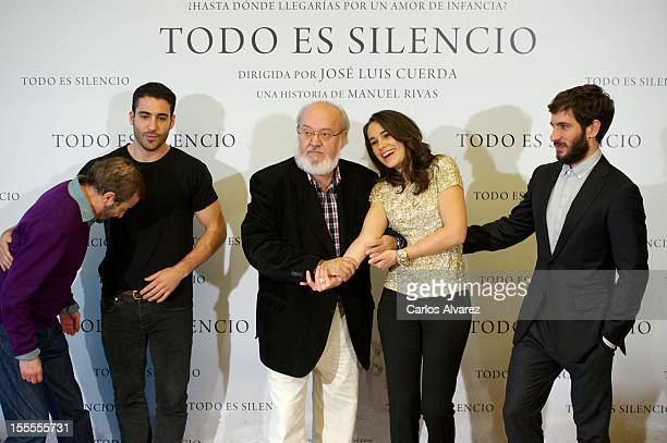 Spanish actors Juan Diego Miguel Angel Silvestre director Jose Luis Cuerda actress Celia Freijeiro and actor Quim Gutierrez attend the 'Todo es...