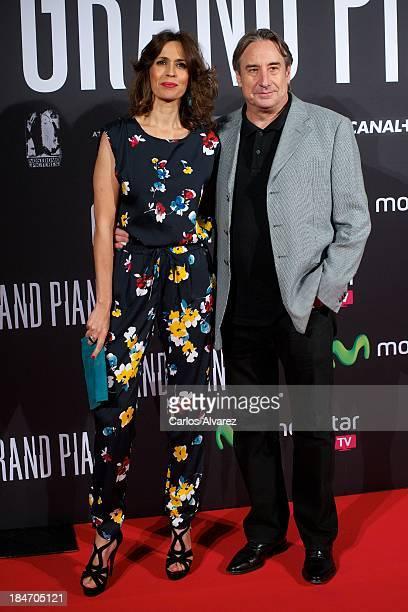 Spanish actors Lola Marceli and Juanjo Puigcorbe attend Grand Piano premiere at the Callao cinema on October 15 2013 in Madrid Spain