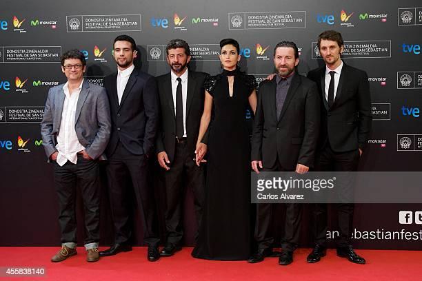 Spanish actors Manolo Solo, Jesus Castro, director Alberto Rodriguez, actress Nerea Barros, actors Antonio de la Torre and Raul Arevalo attend the...