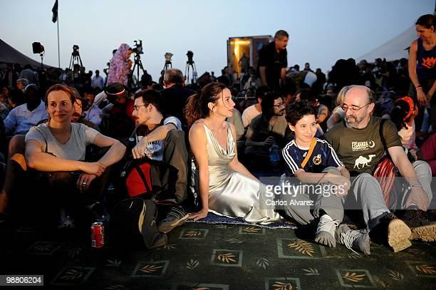 Spanish actors Mar Regueras, Victor Clavijo, Victoria Abril and Alex Angulo visit Dajla's Saharan refugee camp during the 7th Sahara International...