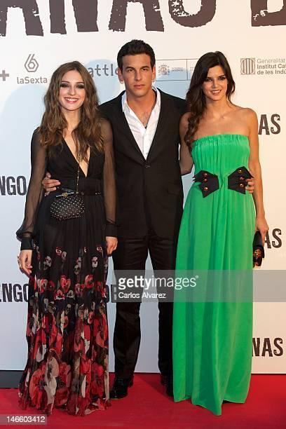 Spanish actors Maria Valverde Mario Casas and Clara Lago attend Tengo Ganas de Ti premiere at Callao cinema on June 20 2012 in Madrid Spain