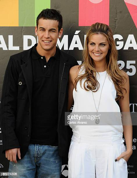 Spanish actors Mario Casas and Amaia Salamanca attend Fuga de Cerebros photocall at the Cervantes Theater during the 2th Malaga Film Festival on...