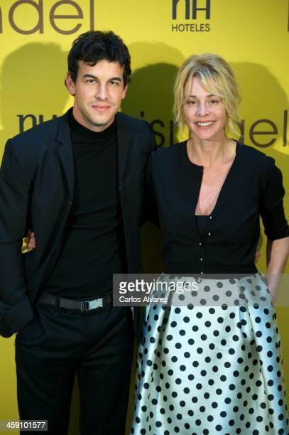 Spanish actors Mario Casas and Belen Rueda attend the Ismael photocall at the Palacio de Tepa Hotel on December 23 2013 in Madrid Spain