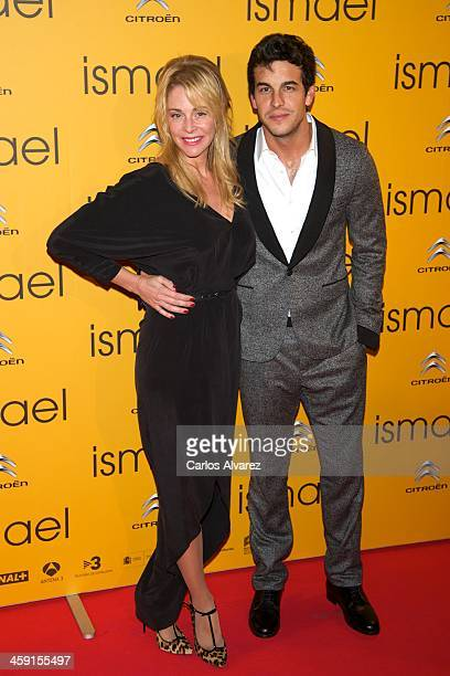 Spanish actors Mario Casas and Belen Rueda attend the 'Ismael' premiere at the Capitol cinema on December 23 2013 in Madrid Spain