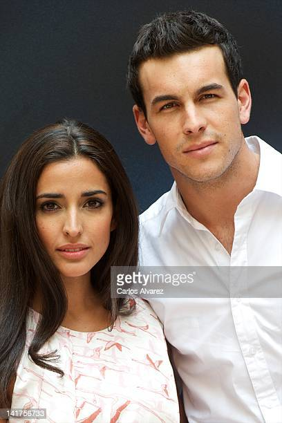 Spanish actors Mario Casas and Inma Cuesta attend 'Grupo 7' photocall at Intercontinental Hotel on March 23 2012 in Madrid Spain