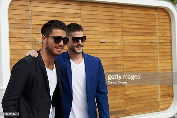 Spanish actors Maxi Iglesias and Luis Fernandez attend the 'Asesinos Inocentes' photocall during the 18th Malaga Film Festival on April 22 2015 in...