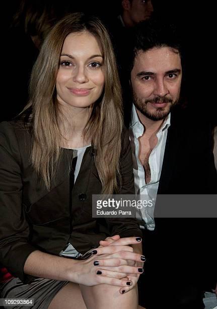 Spanish actors Norma Ruiz and Jose Manuel Seda attend the Hannibal Laguna fashion show during the Cibeles Madrid Fashion Week A/W 2011 at Ifema on...