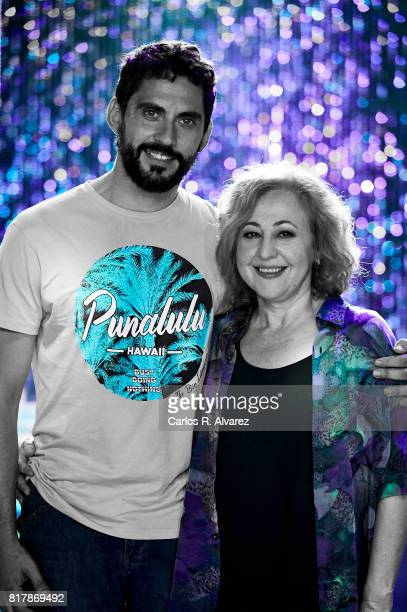 Spanish actors Paco Leon and Carmen Machi attend 'La Tribu' photocall at the La Rosa Club on July 18 2017 in Madrid Spain